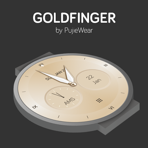 Screenshot for Watch Face - Pujie Black for Wear OS in United States Play Store