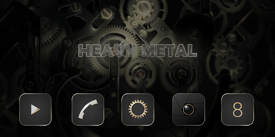 android Heavy Metal-Solo Theme Screenshot 0