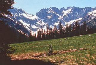 Photo: 45. Seven Fingered Jack Mountain from Entiat meadows, eastern part of wilderness.