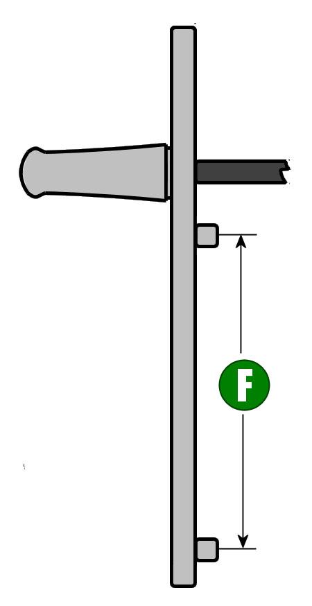 how to measure a door handle