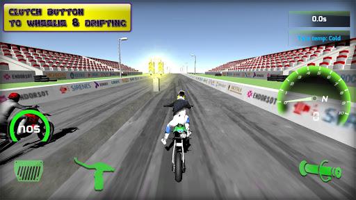 Motorbike real 3D drag racing Wheelie Challenge 3D  screenshots 1