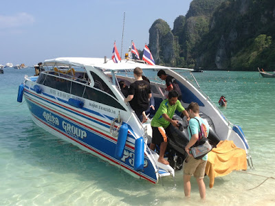 Board the convenient speed boat at Ton Sai Pier