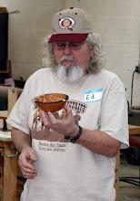 Photo: Ed Karch - pear bowl w/ deco rim