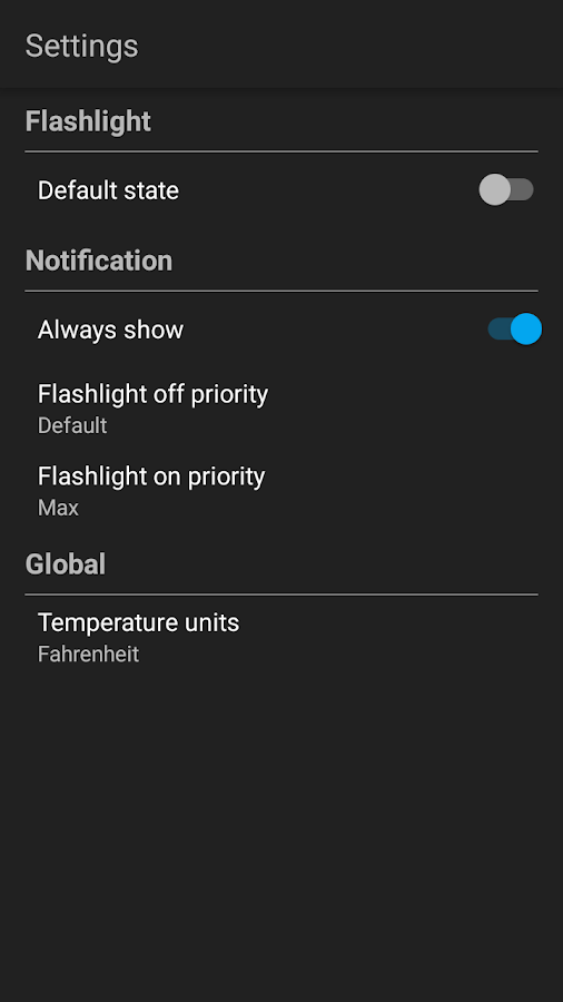 Simple Flashlight- screenshot