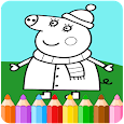 How To Color peppa pig (coloring pages) icon