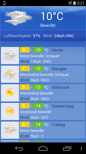 Wetter Berlin screenshot 1