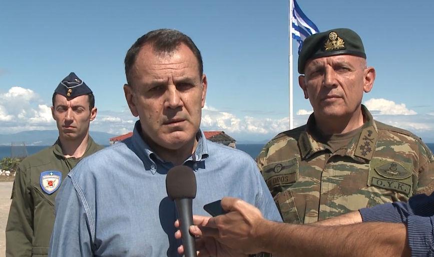 Παναγιωτόπουλος: Δεν νιώσαμε παρενόχληση-Τα ελληνικά μαχητικά τους είχαν ήδη διώξει (ΦΩΤΟ-ΒΙΝΤΕΟ)