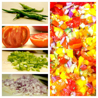 Rainbow Pepper Salsa