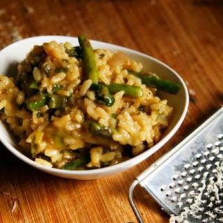 Garlicky Roasted Spring Vegetable Herbed Risotto