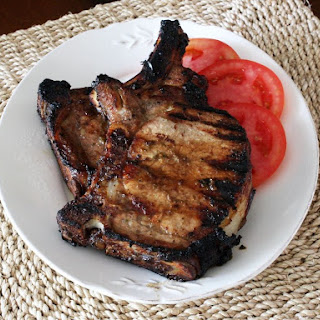 Grilled Pork Chops With Balsamic Marinade.