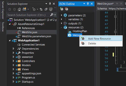 Adding Environment Variables to an ARM template for Azure App Services