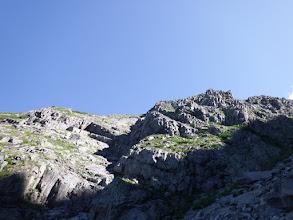 右側は奥穂高岳の斜面