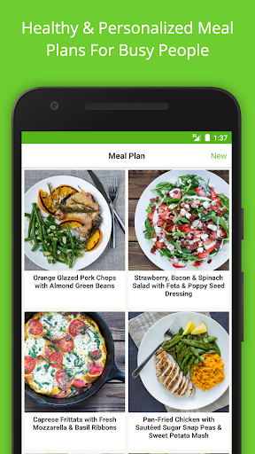 Mealime - Meal Plans & Recipes with a Grocery List screenshot