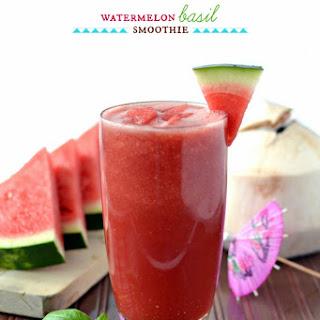 Watermelon Basil Smoothie.