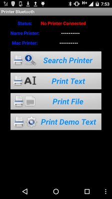 Printer Bluetooth - screenshot