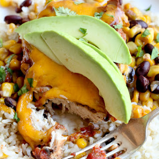 Slow Cooker Salsa Chicken with Black Beans and Corn.