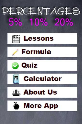 Percentages Maths