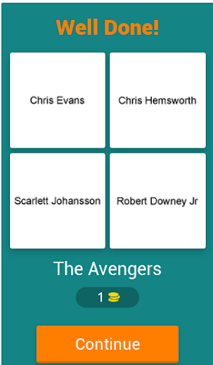 4 Actors 1 Movie Quiz Game - Free Movie Trivia screenshot 2