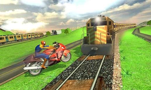 Train vs Super Hero Spider Bike - náhled