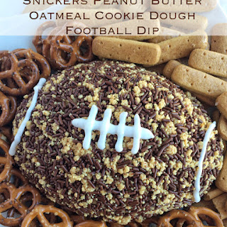 Snickers Peanut Butter Oatmeal Cookie Dough Football Dip