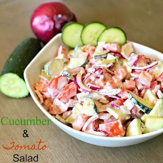 Creamy Cucumber & Tomato Salad Recipe