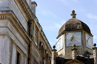 Photo: Sundial, Gonville & Caius College, Cambridge.