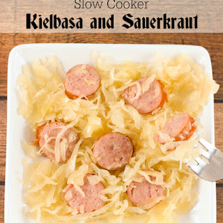 Slow Cooker Kielbasa and Sauerkraut