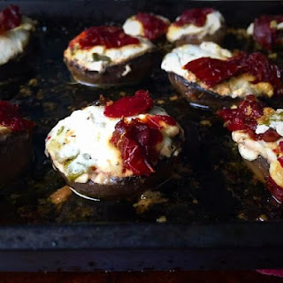 ~ Cream Cheese And Sundried Tomato Stuffed Grilled Mushrooms | My Version ~