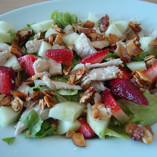 Strawberry Salad with Candied Almonds.