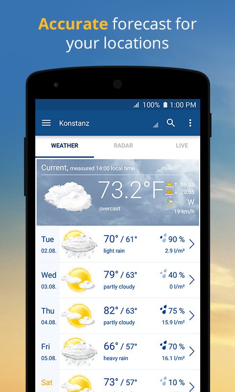 wetter.com - Weather and Radar- screenshot