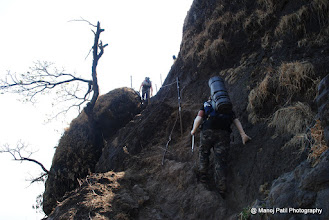 Photo: Rock patch on way to Rajgad via Chor Darvaja....