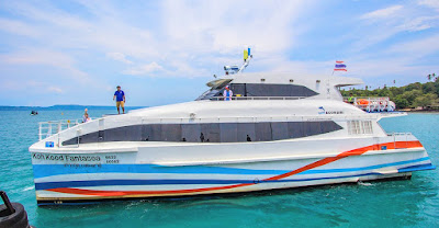 Travel from Koh Mak to Bangkok by Boonsiri high speed catamaran and bus