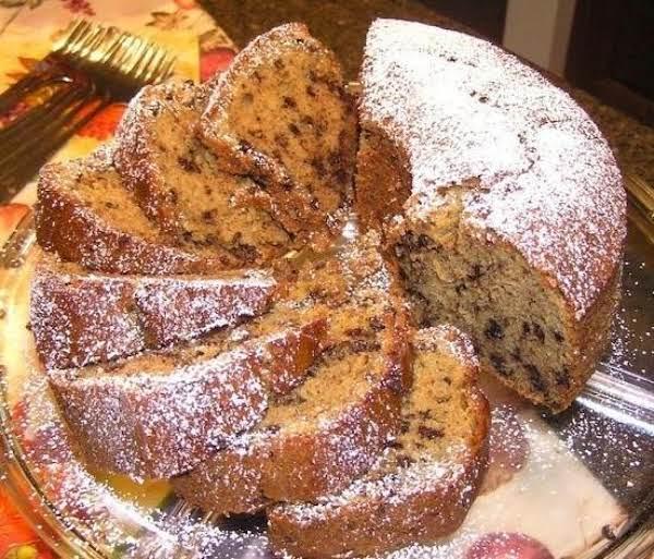 German Sweet Chocolate Chip Pound Cake