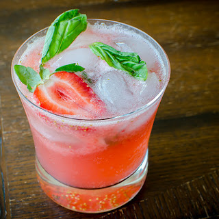 Strawberry-Basil Mojitos.