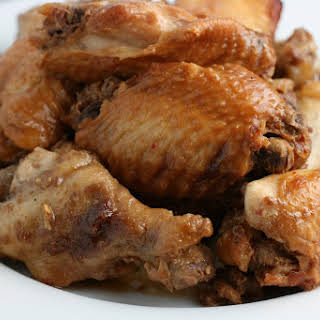 CrockPot Hoisin Chicken Wings.
