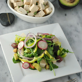 Greek Salad Vegan Feta Cheese.