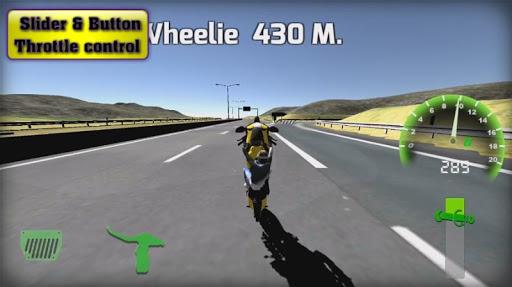 Motorbike real 3D drag racing Wheelie Challenge 3D  screenshots 7