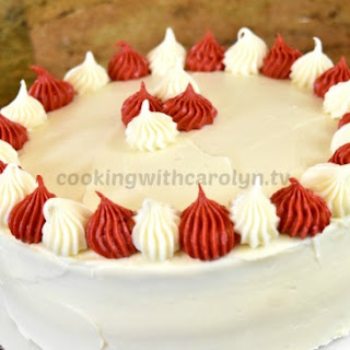 The Best Moist Vanilla White Layer Cake with Cream Cheese Frosting.