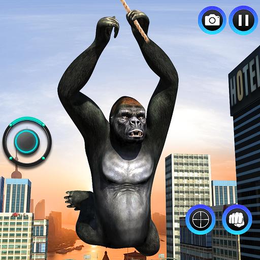 Baixar Gorilla Ropehero Gangster Crime City Flying Hero para Android