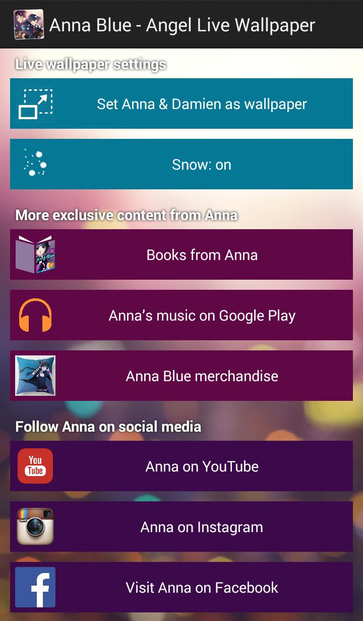 Скриншот Anna Blue Angel Live Wallpaper