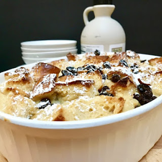 Holiday Breakfast Eggnog Bread Pudding