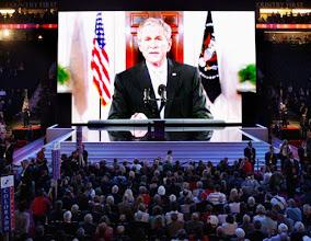 Photo: President Bush speaks to the Republican National Convention in St. Paul, Minn., via satellite on Tuesday, Sept. 2, 2008. at the Republican National Convention in St. Paul, Minn., Tuesday, Sept. 2, 2008.  (AP Photo/Ron Edmonds)?????????????????????????????????????????????? ????????????????ÿ????-???????????????????????????????6???????????????????????ÿ?????????????ÿ??????????????????????ÿ?????????????????È????????????????????????????????????????????????????????????ÿ???u??????????ÿ??????U?????????????????????????????????????????????????????????????????????????????????????????????????????????????????????????????????????????????????????????????????????????????A??????????????????¦?????????????????????????????????????????????????????????????é??????????????????????????????????????????????????????I????????????????????????????????