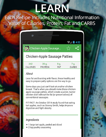 android Healthy Recipes Fitness Muscle Screenshot 4