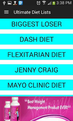 Ultimate Diet Lists