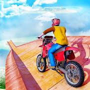 Real Impossible Bike Stunts 2019 : Mega Ramp Games