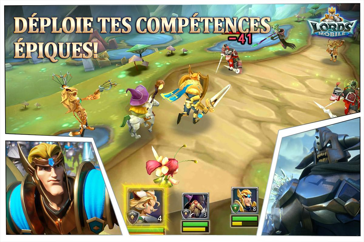 Lords Mobile: Guerre des Royaumes - Bataille RPG – Capture d'écran