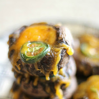 Low Carb Cheesy Jalapeno Mushroom Bites