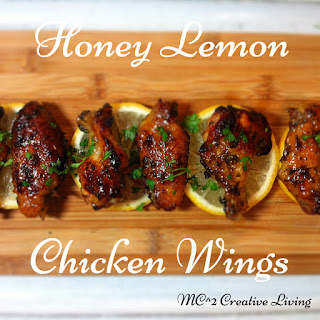 Honey Lemon Chicken Wings.