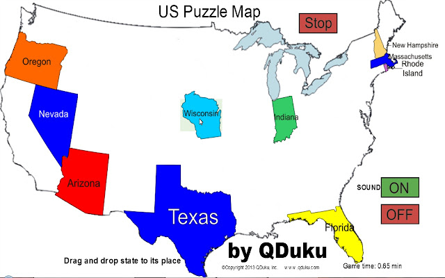 USMap Puzzle Game Chrome Web Store - Interactive us map puzzle