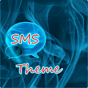 Blue Smoke Theme GO SMS PRO icon